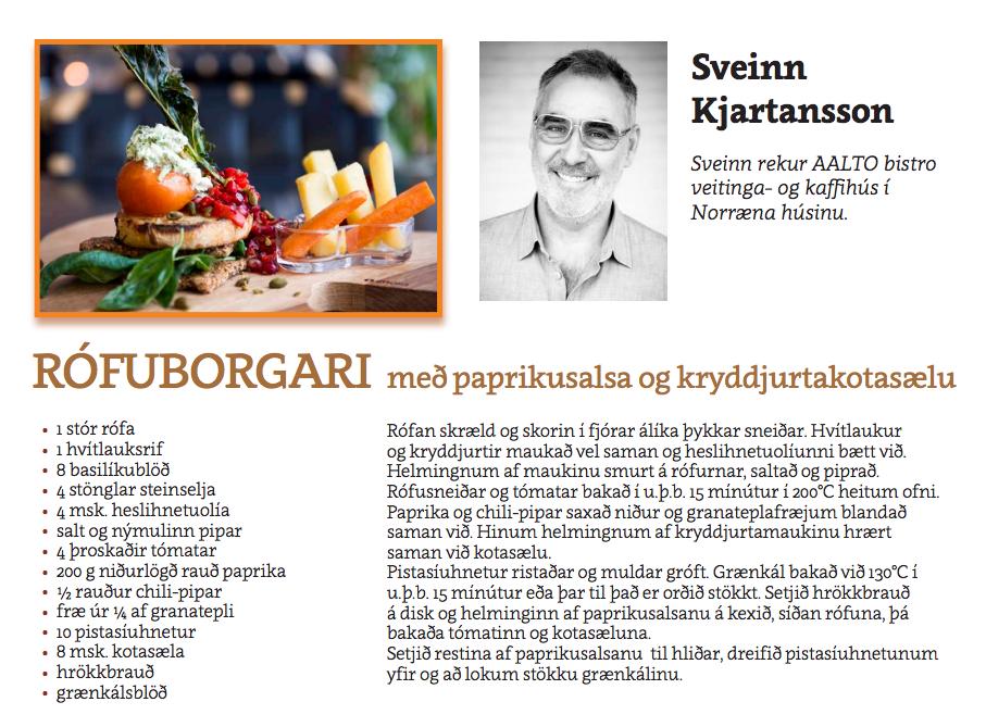 Rófuborgari Sveinn Kjartansson