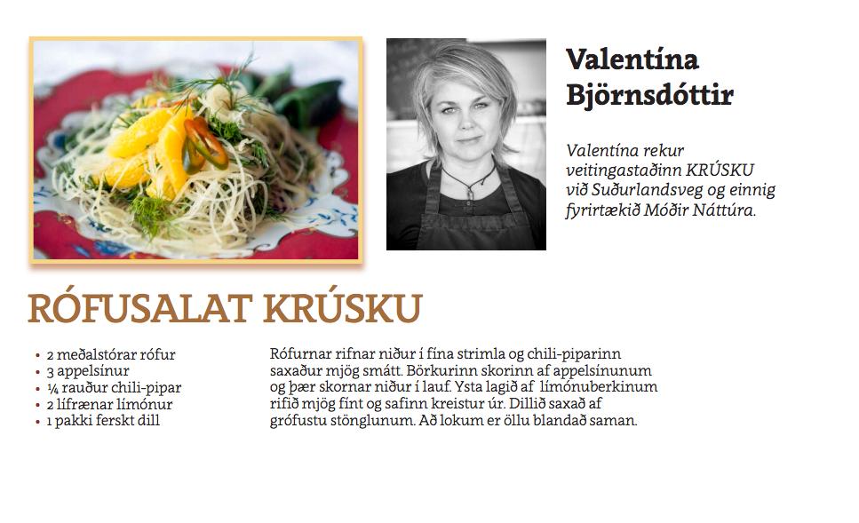 Rófusalat Krúsku - Valentína Björsdóttir